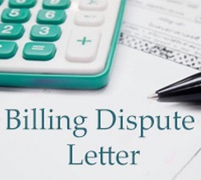 Billing Dispute Letter sample