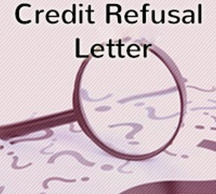 Credit Refusal Letter
