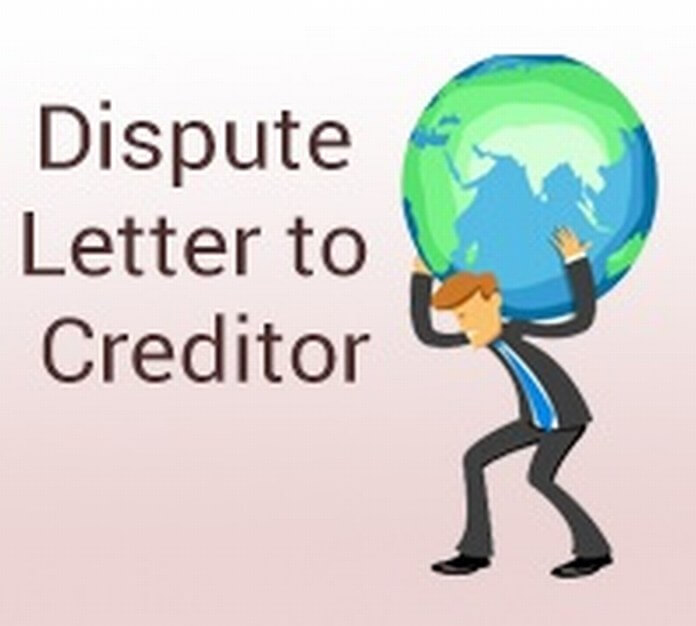 Sample Dispute Letter to Creditor