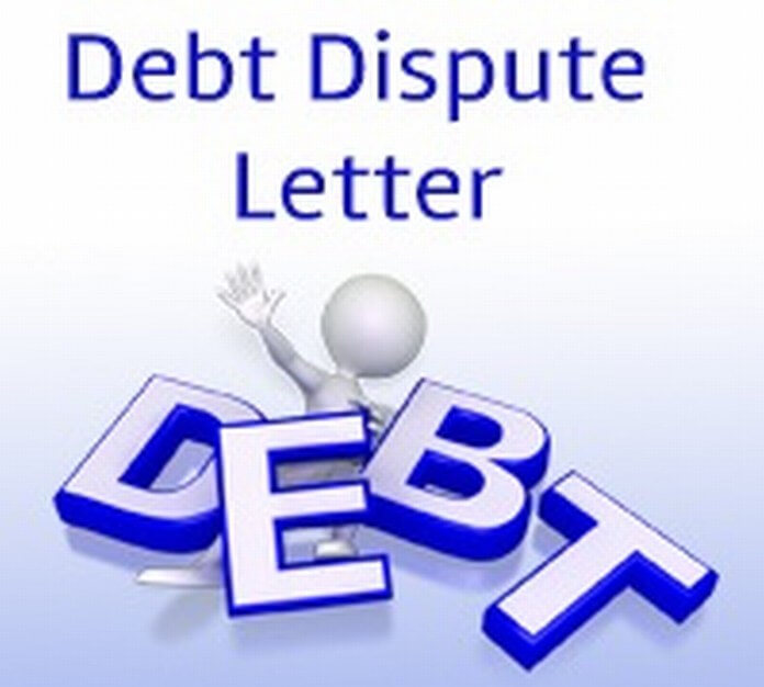Debt Dispute Letter example