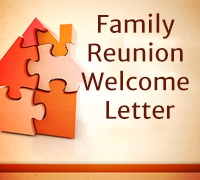 Family Reunion Welcome Letter