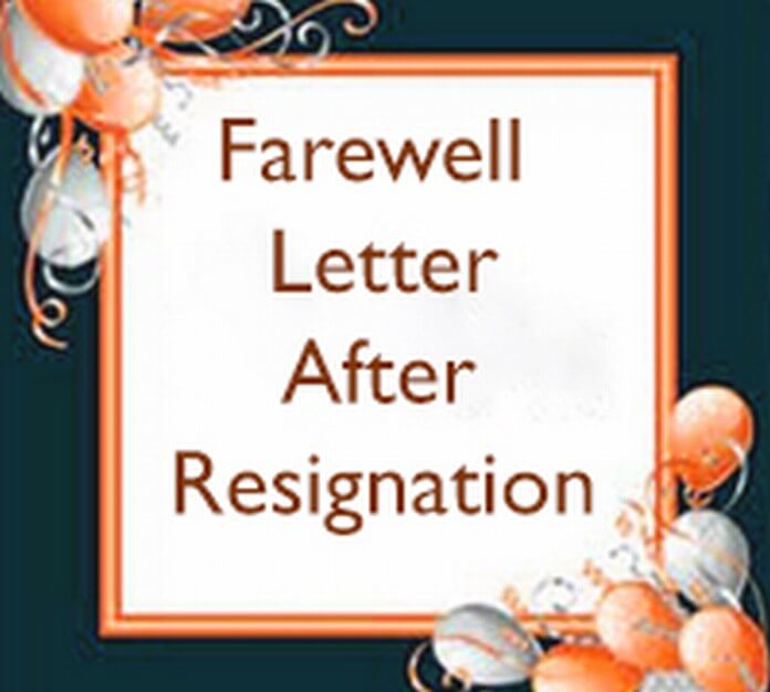 Farewell Letter after Resignation