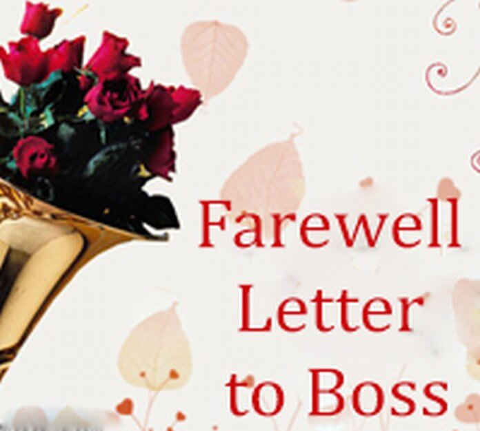 Farewell Letter to Boss