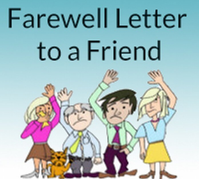 Farewell Letter to Friend