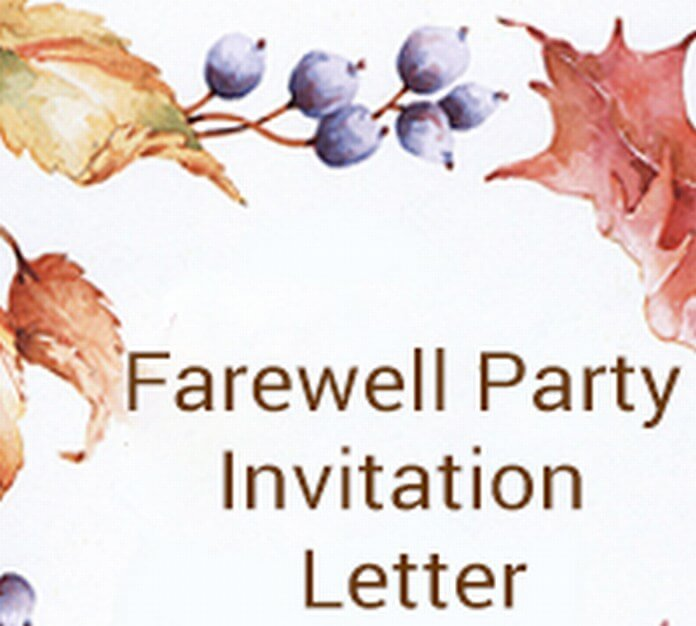 Farewell Party Invitation Letter