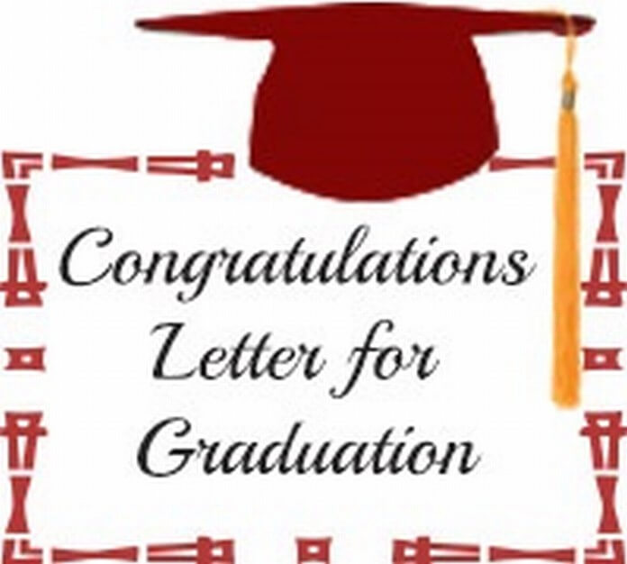 Congratulation Letter For Graduation