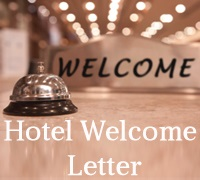 Hotel Welcome Letter Sample