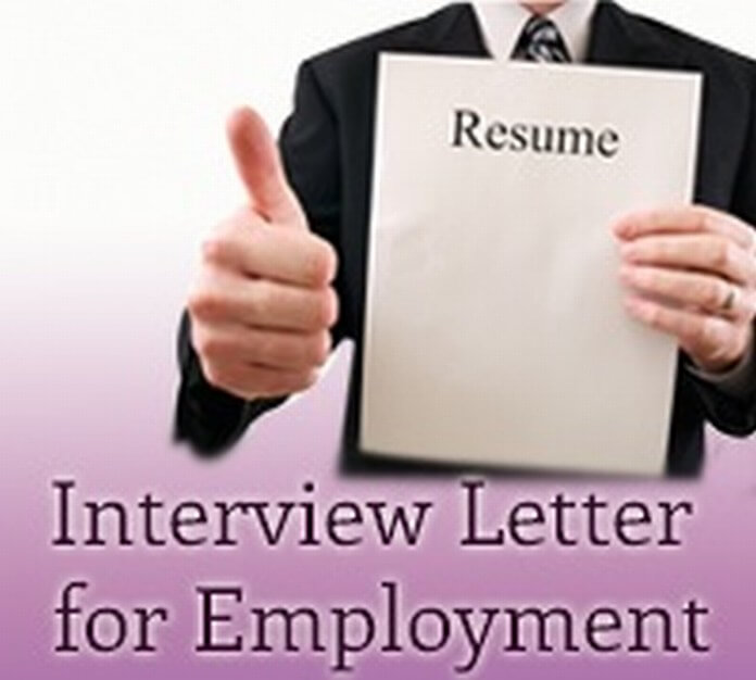 Interview Letter for Employment