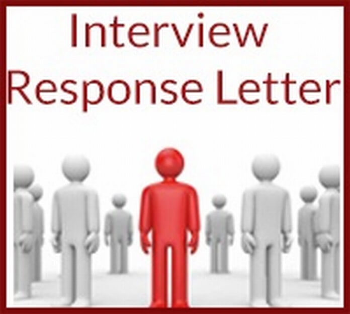 Interview Response Letter