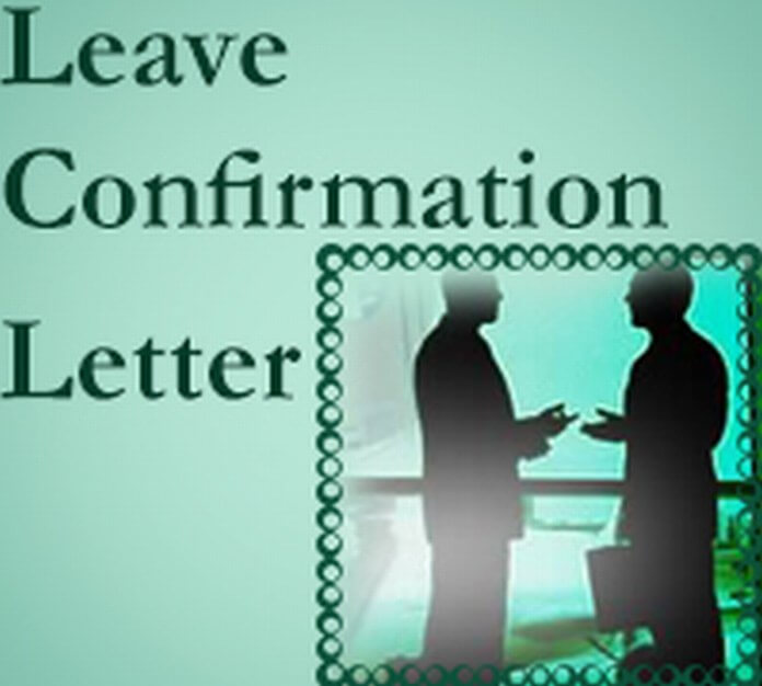 Confirmation Letter of Leave Application