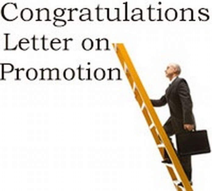 Sample Congratulation Letter on Promotion