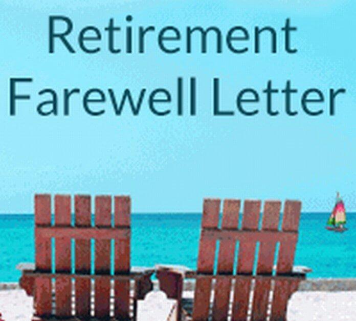 Retirement Farewell Letter