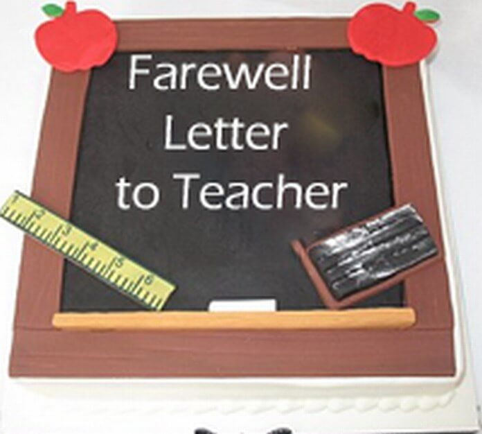 Farewell Letter to Teacher