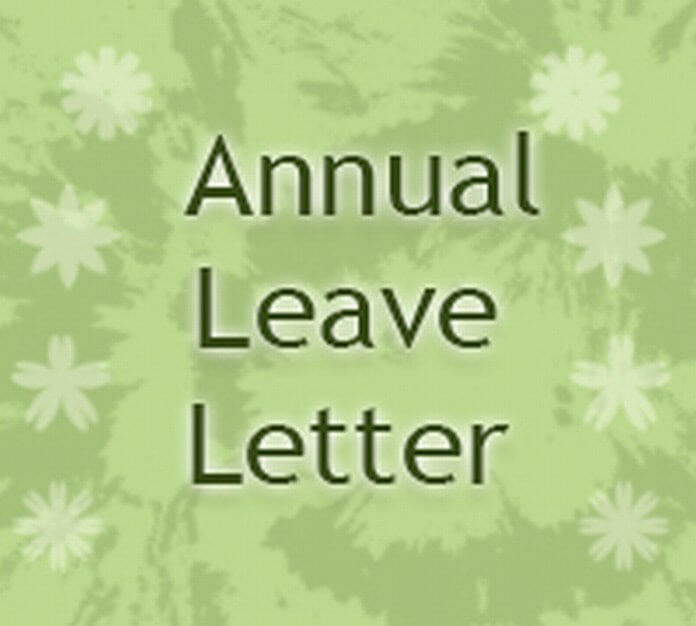 Annual Leave Letter