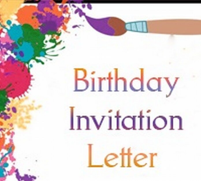 Sample Birthday Invitation Letter