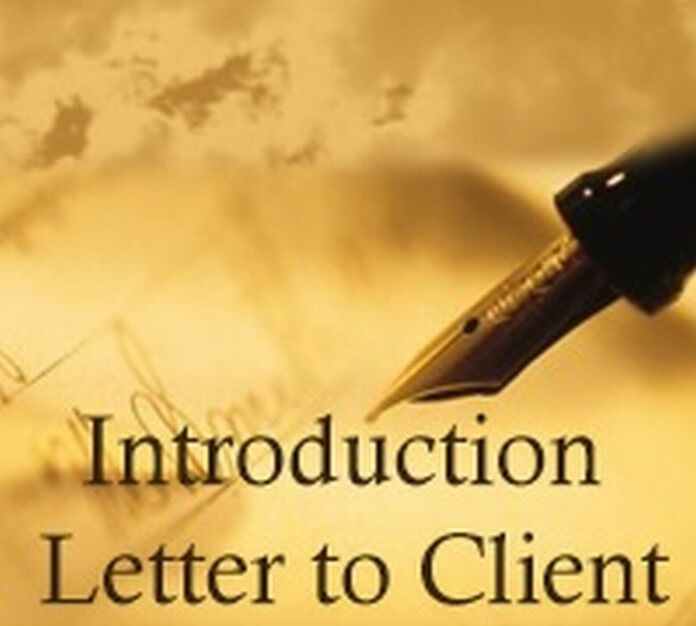 Sample Introduction Letter to Client