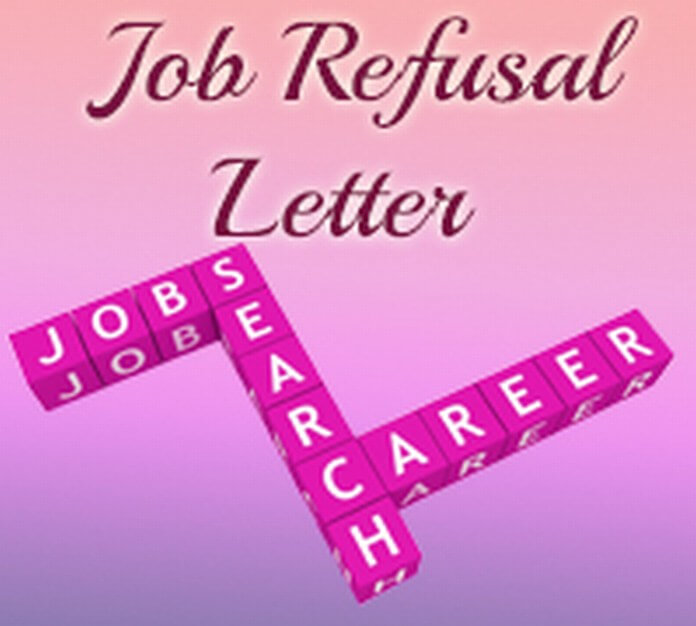 Job Refusal Letter