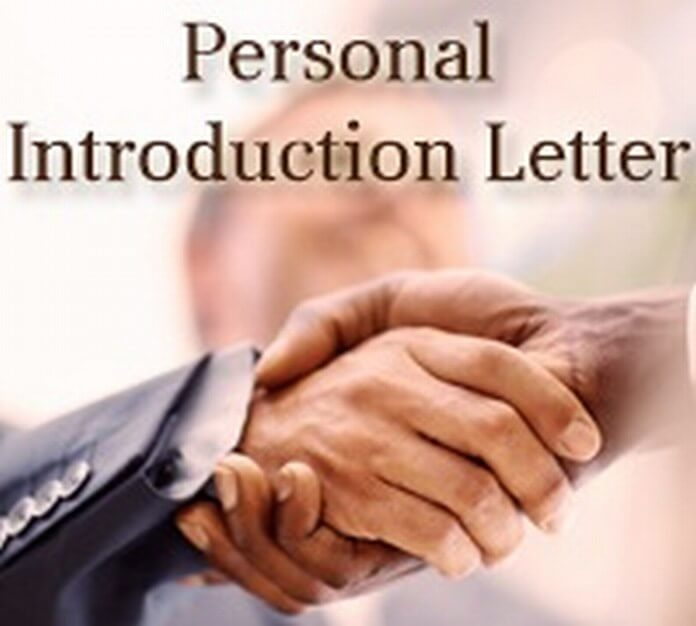 Personal Introduction Letter