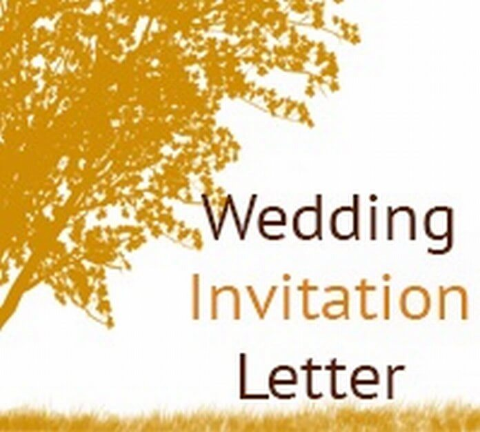 Wedding invitation letter sample wedding invitation letter stopboris Image collections