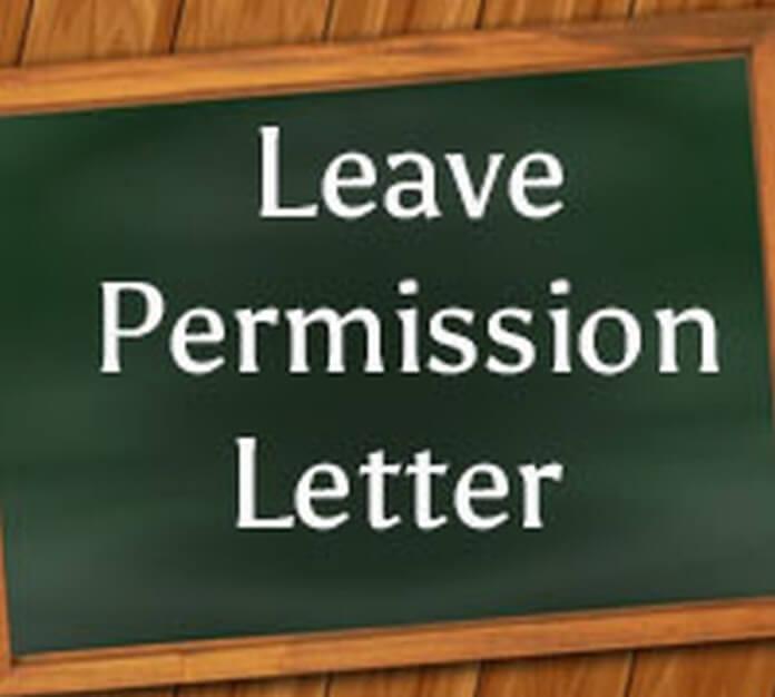 Leave Permission Letter