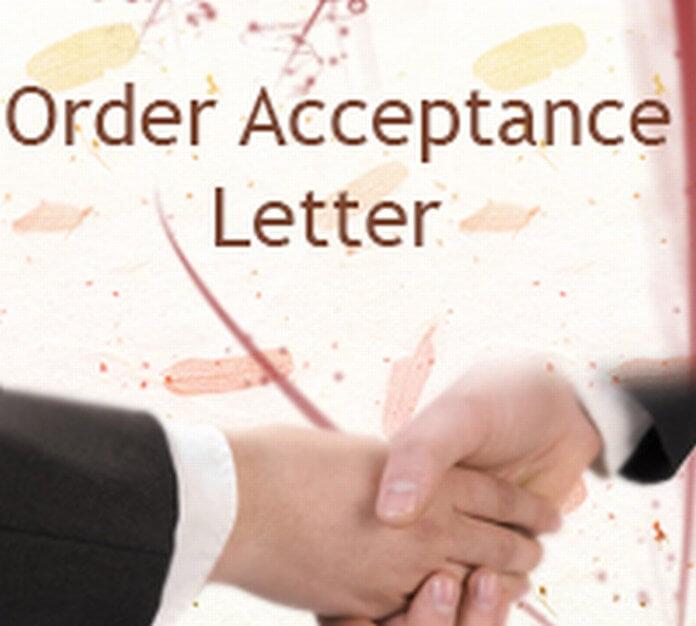 Order Acceptance Letter