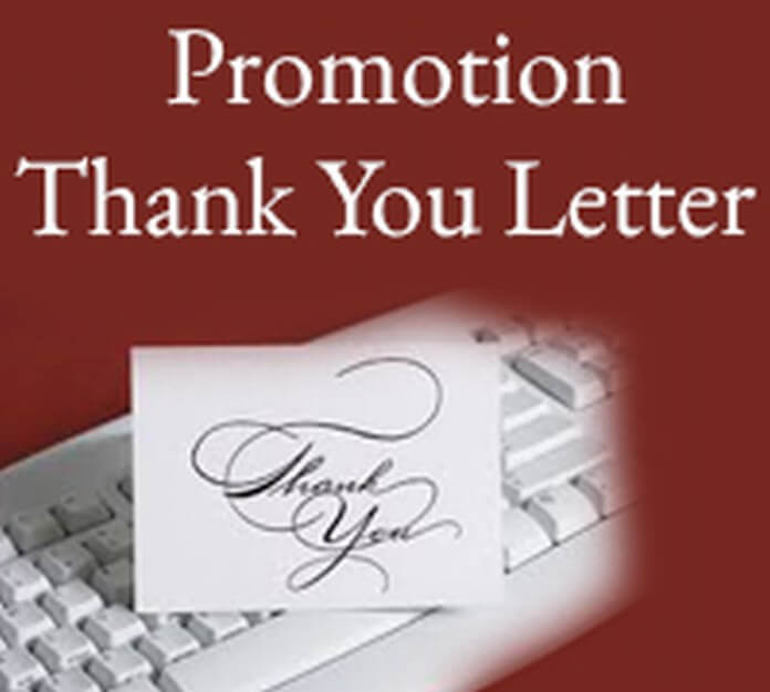 Promotion Thank You Letter