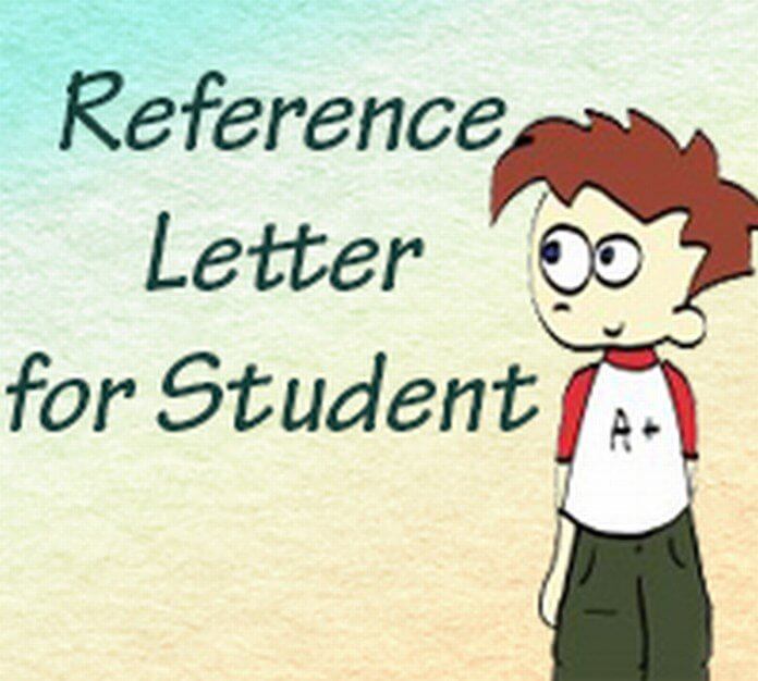 Reference Letter for Student