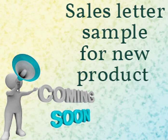Sales letter for new product free letters stopboris Choice Image