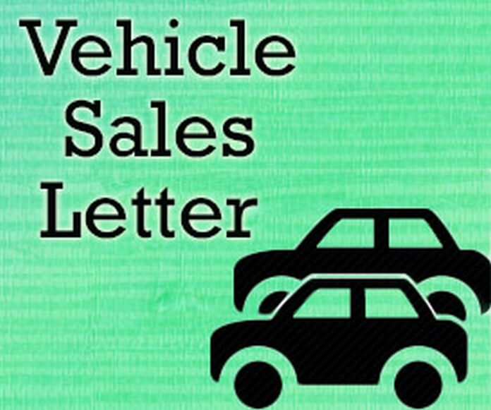 Vehicle Sales Letter