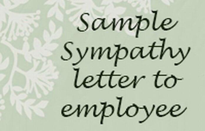 Employee Sympathy Letter