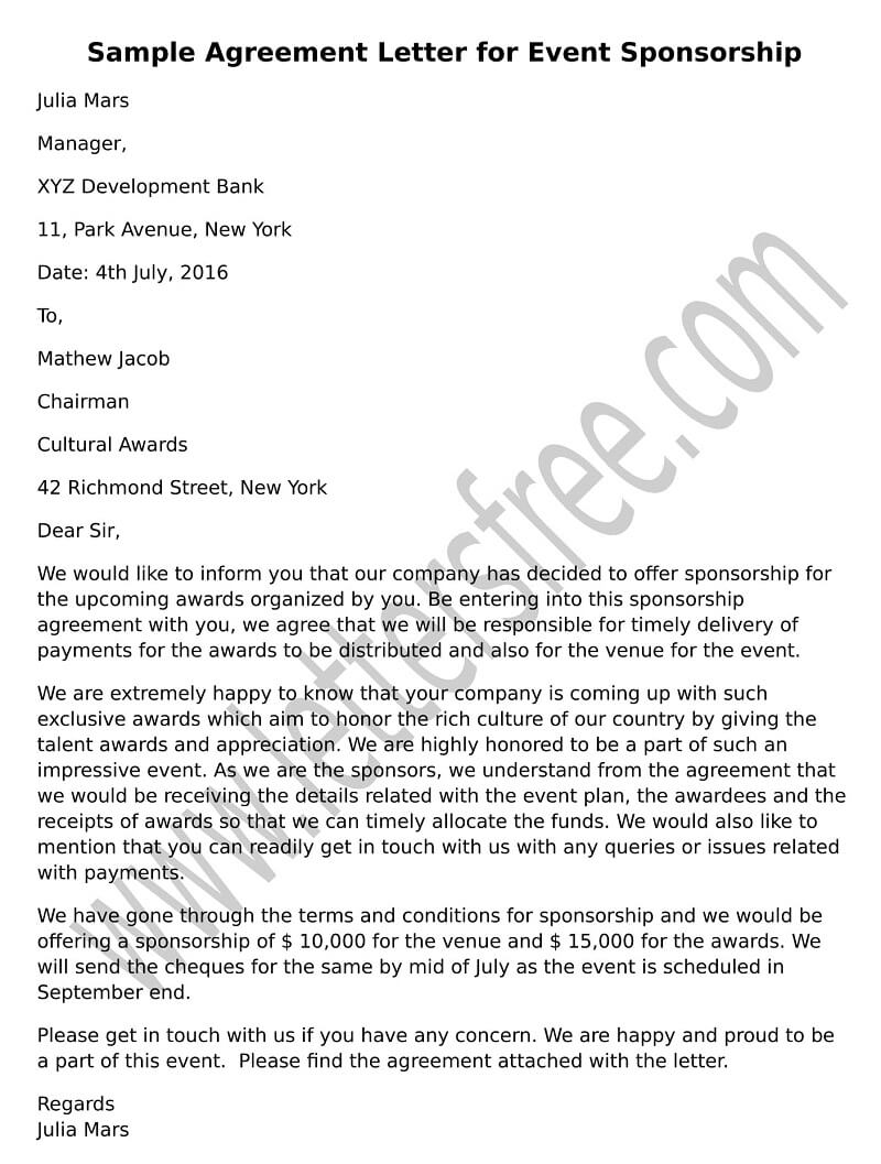 sample agreement letter for debt settlement free letters