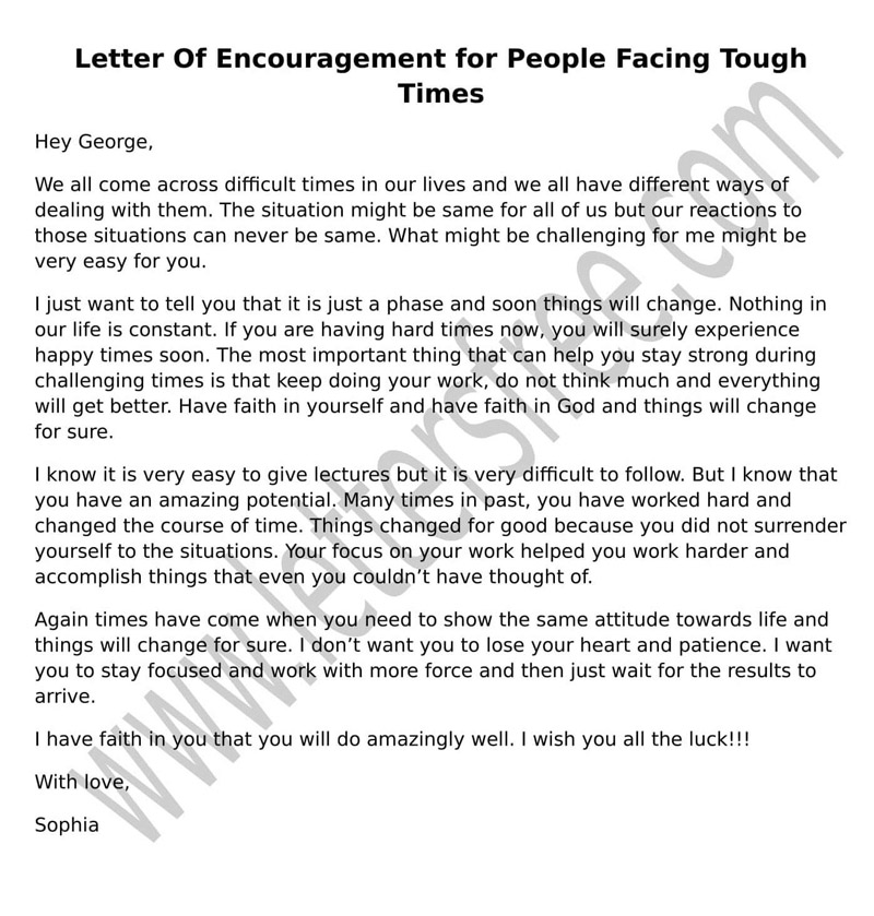 Encouragement love letters for him