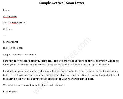 sample get well soon letter how to write a get soon well letter