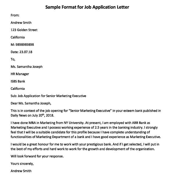 How to Write an Application Letter for Job Vacancy, Job Application Letter Format