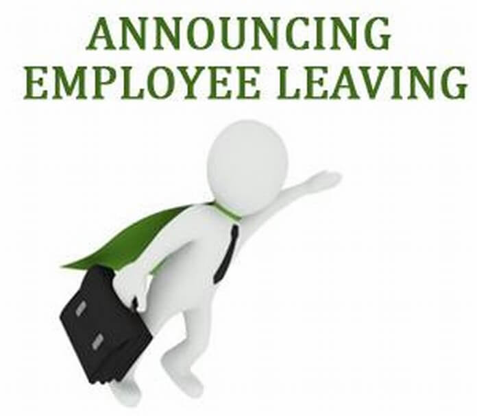 Letter Announcing Employee Leaving