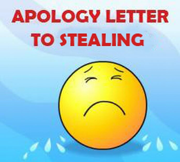 Apology Letter for Stealing