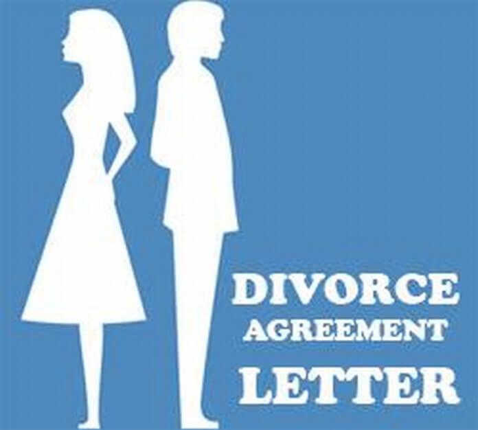 Divorce Agreement Letter