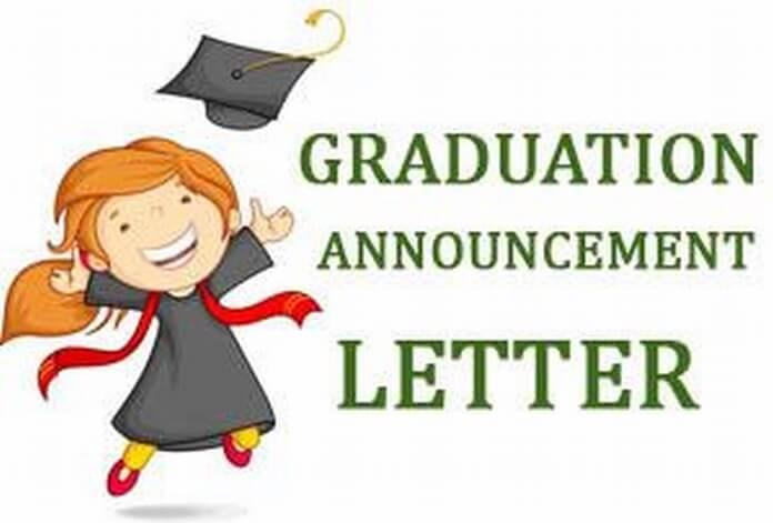 Graduation Announcement Letter