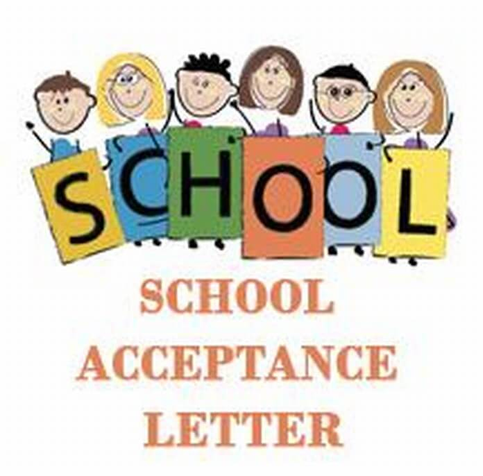 School Acceptance Letter sample
