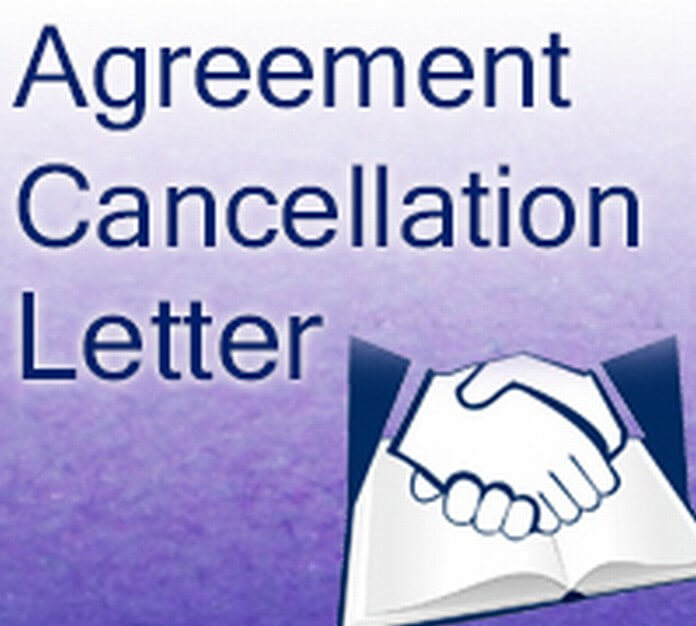 Agreement Cancellation Letter format
