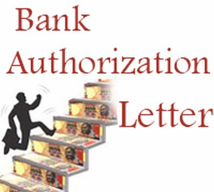 Bank Authorization Letter Example