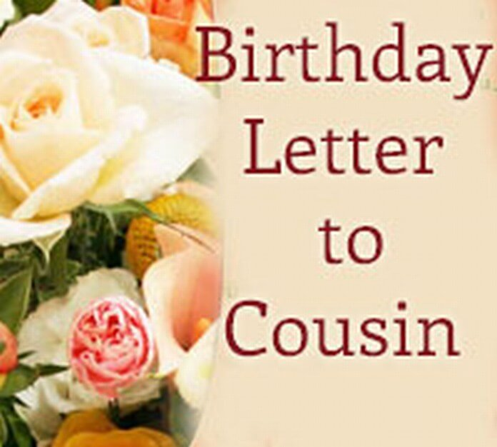 Cousin Birthday Letter