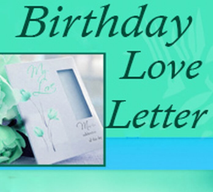 Sample Birthday Love Letter