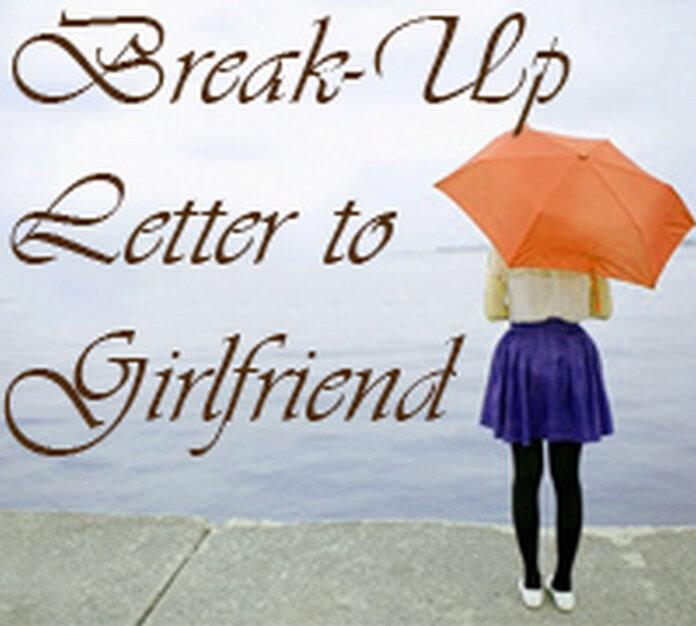 Girlfriend Break Up Letter