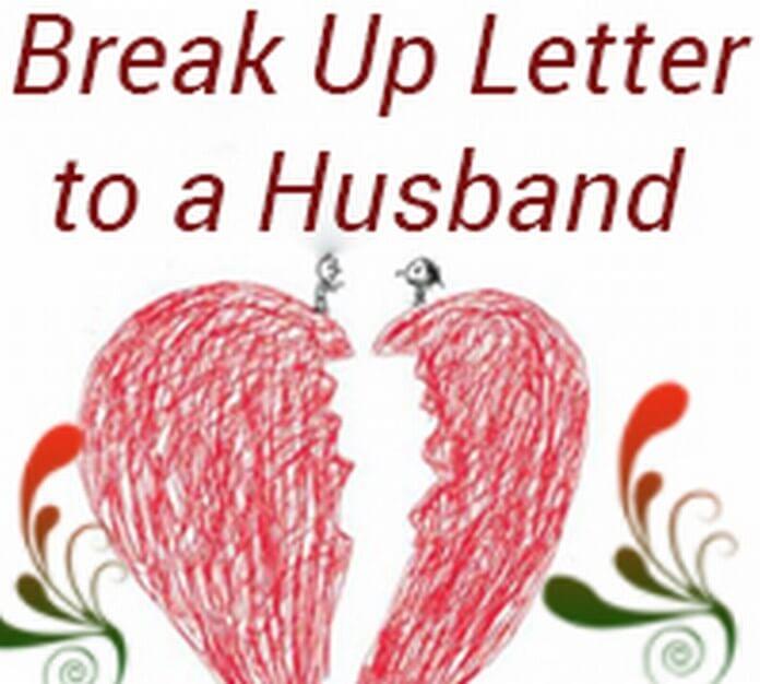 Husband Break up Letter