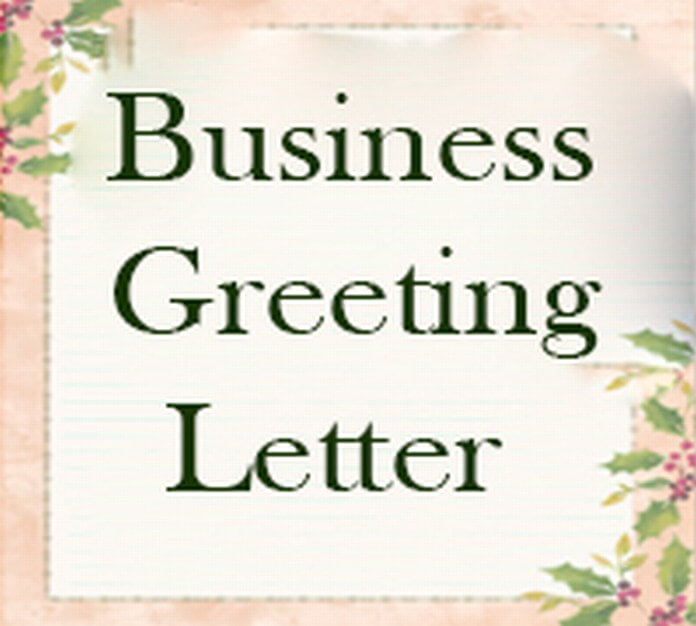 Business Greeting Letter