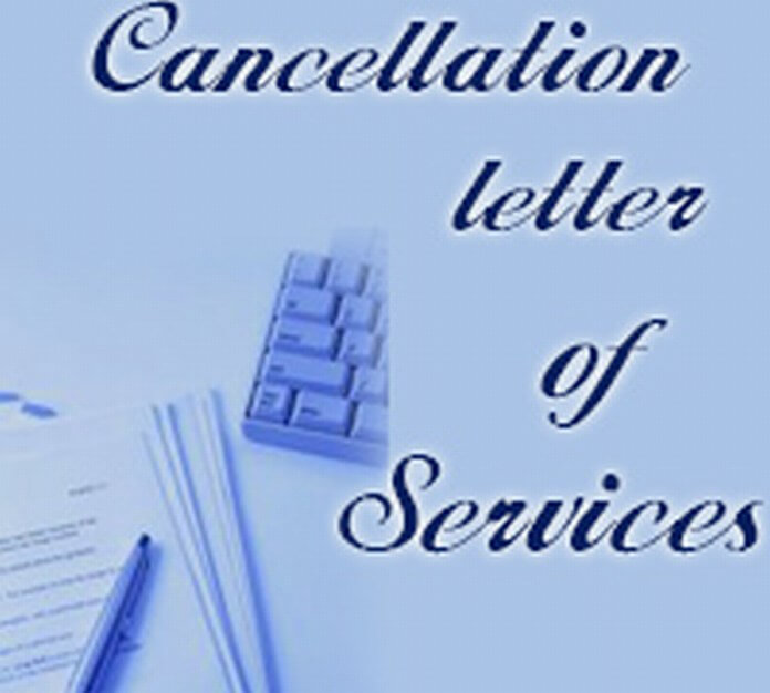 Cancellation Letter of Services