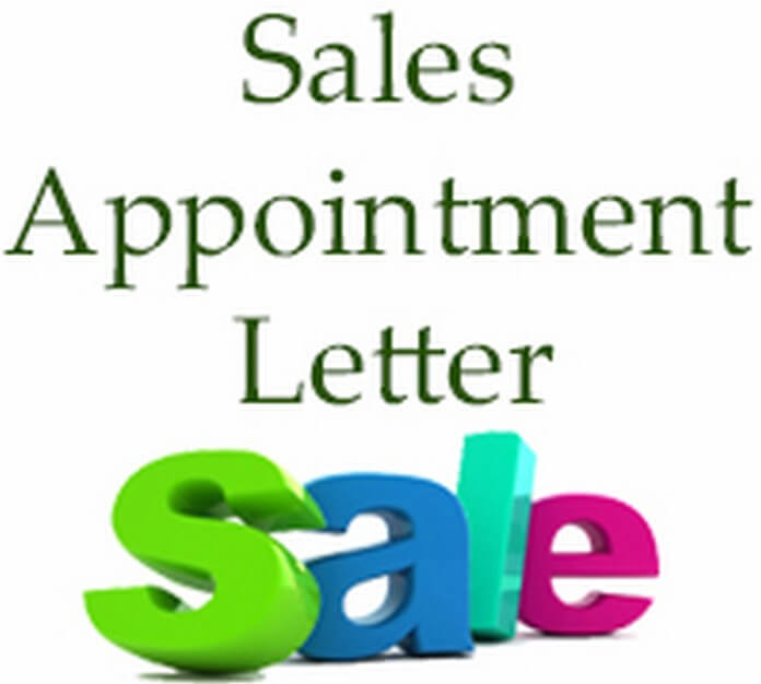 Sales Appointment Letter sample