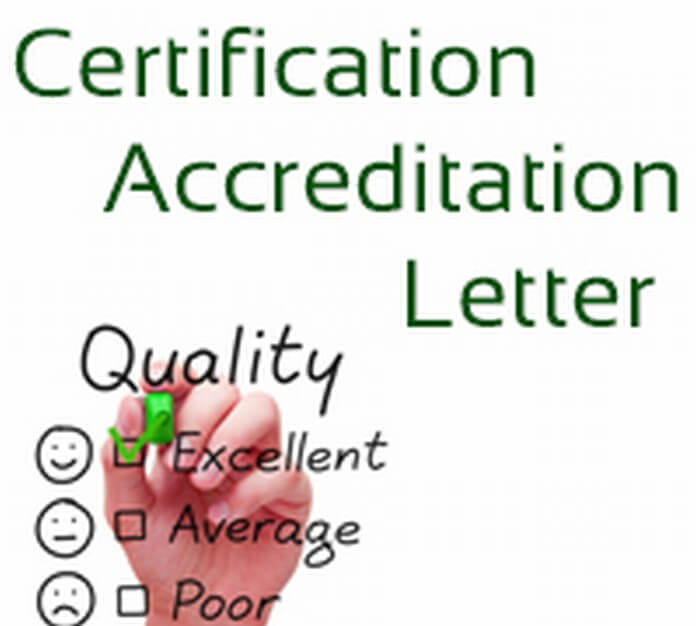 Certification Accreditation Letter