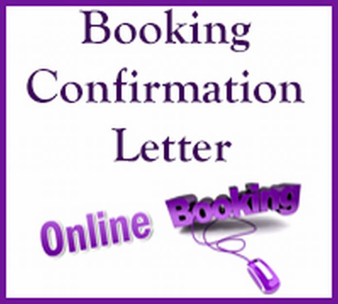 Booking Confirmation Letter sample